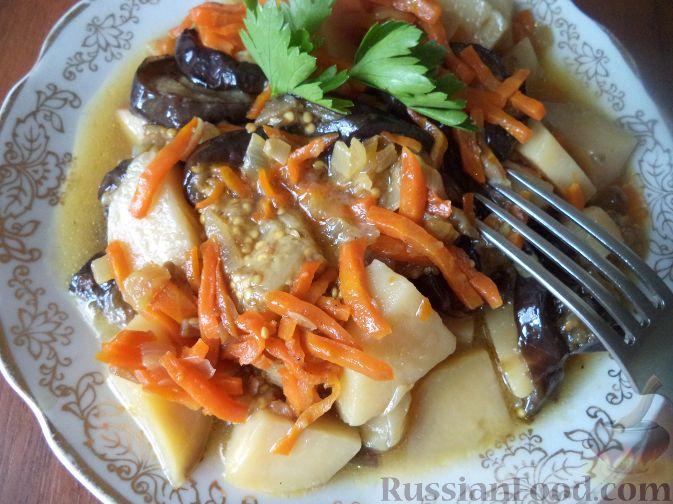 Рецепт Рагу из баклажанов и картофеля