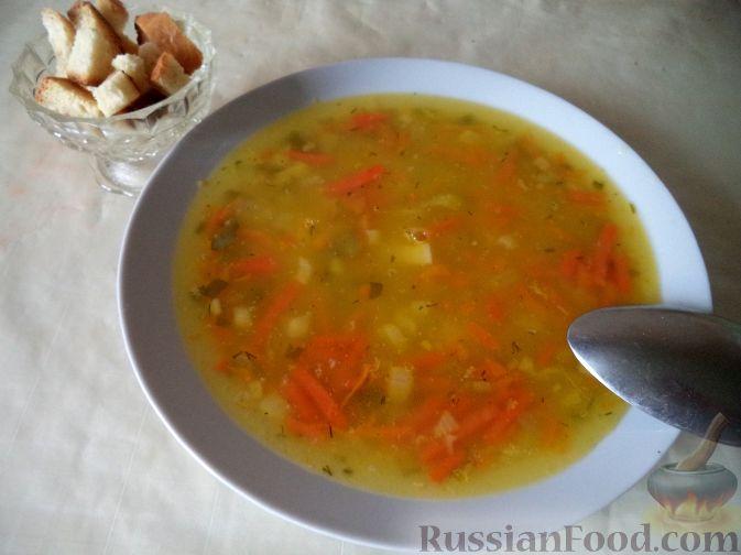 Рецепт Простой суп гороховый (постный)