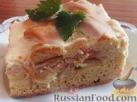 Фото к рецепту: Яблочный пирог в сметанной заливке