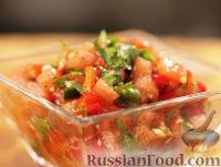 Фото к рецепту: Сальса из печеного перца с томатами