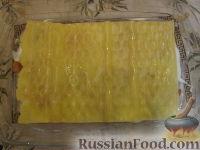 Фото приготовления рецепта: Лазанья с тыквой, пореем и колбасками - шаг №5