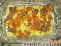 Фото приготовления рецепта: Лазанья с тыквой, пореем и колбасками - шаг №6
