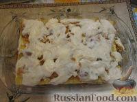 Фото приготовления рецепта: Лазанья с тыквой, пореем и колбасками - шаг №9