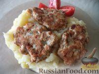 Фото к рецепту: Куриные оладушки с плавленым сыром