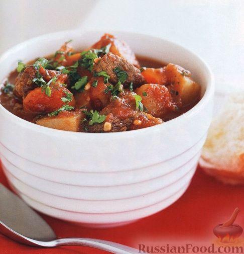 Рецепт Рагу из говядины и овощей