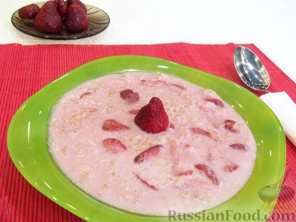 Рецепт Овсяная каша с клубникой