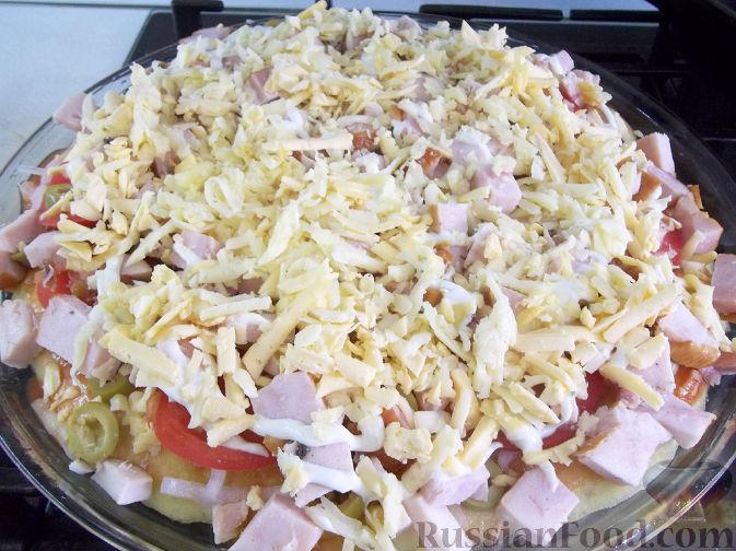 Фото приготовления рецепта: Насыпной яблочный пирог - шаг №4