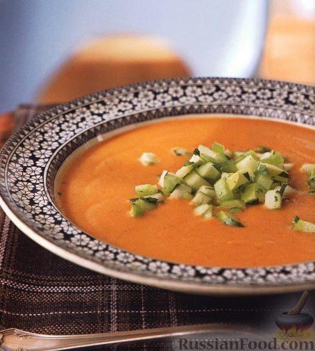 Рецепт Чечевичный суп-пюре с яблочной сальсой