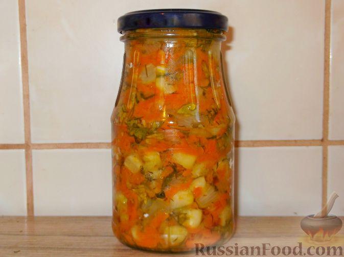 Рецепт Закуска из кабачков и моркови