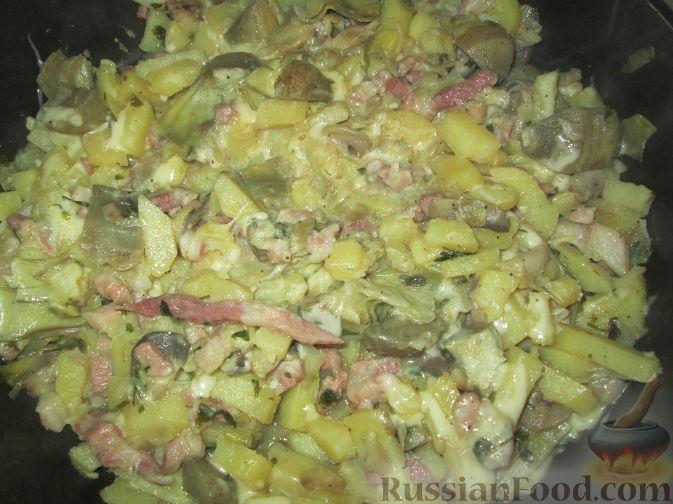 Рецепт Артишоки с картофелем и грибами