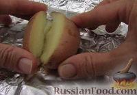 Фото приготовления рецепта: Печеный картофель с сыром - шаг №6