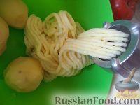 Фото приготовления рецепта: Картофельники с куриным мясом - шаг №7