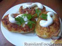 Фото приготовления рецепта: Картофельники с куриным мясом - шаг №15