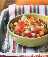 Фото к рецепту: Фруктово-овощной гаспачо