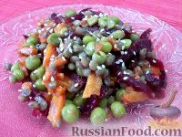 Фото к рецепту: Салат с чечевицей