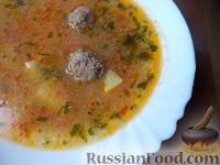 Фото к рецепту: Летний суп с фрикадельками