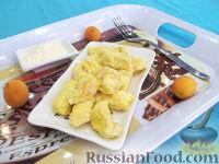 Фото к рецепту: Ленивые вареники с абрикосами