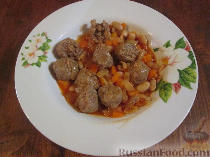 Рецепт Колбаски с фасолью
