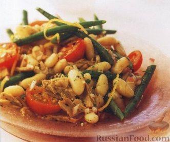 Рецепт Фасолевый салат с тунцом и помидорами