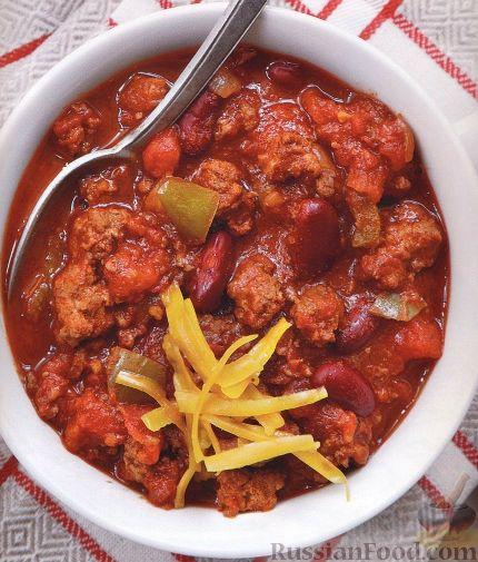 Рецепт Острый мясной соус с фасолью