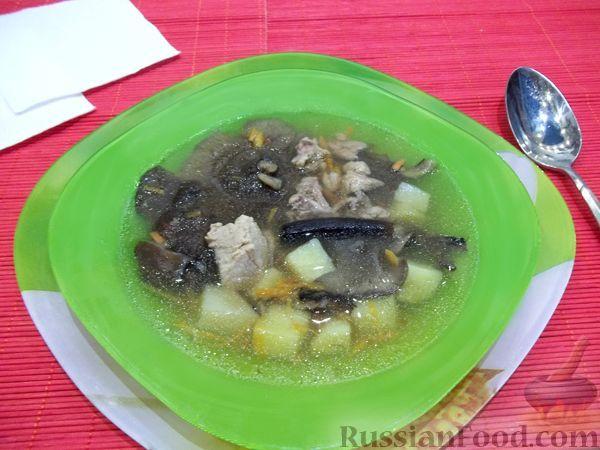 Рецепт Грибной суп с мясом