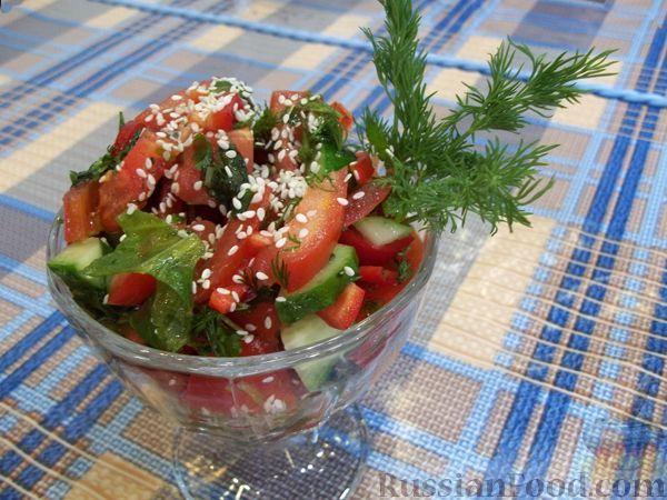 Рецепт Свеженький овощной салатик