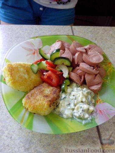 Рецепт Картофельные котлеты с белым молочным соусом