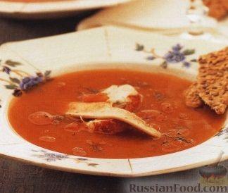 Рецепт Суп из морепродуктов на томатном бульоне