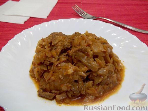 Рецепт Тушеная капуста со свининой