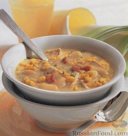 Рецепт Куриный суп с фасолью и кукурузой