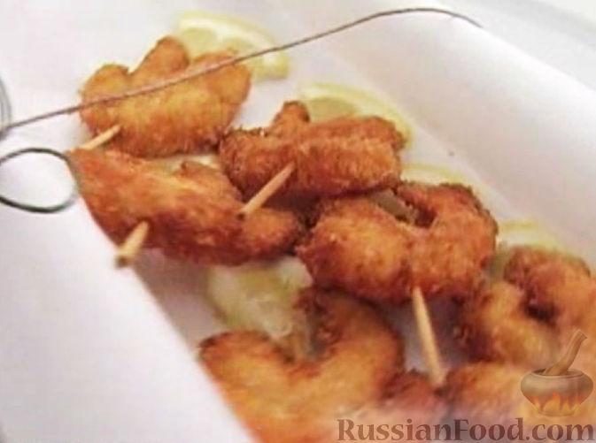 Рецепт Креветки в сухарях