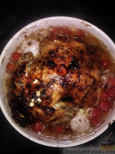 Рецепт Курица, запеченная с гречкой в печи