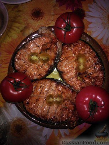 Рецепт Форель на углях