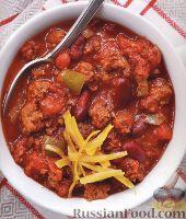 Фото к рецепту: Острый мясной соус с фасолью