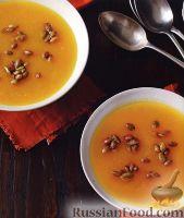 Фото к рецепту: Тыквенный суп-пюре с карамелизованными семечками