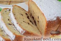Фото к рецепту: Простой кекс с шоколадом в хлебопечке