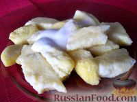 Фото к рецепту: Ленивые вареники с бананом