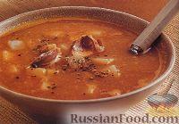 Фото к рецепту: Картофельный суп с печеным чесноком