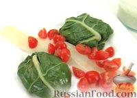 Фото к рецепту: Мангольд с лососем
