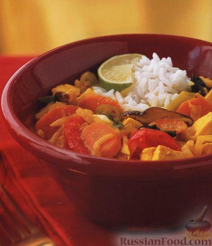 Рецепт Овощи, тушенные с сыром тофу