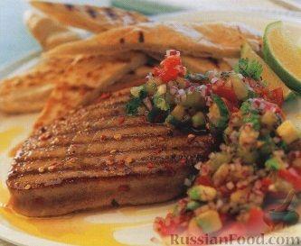 Рецепт Жареный тунец с сальсой