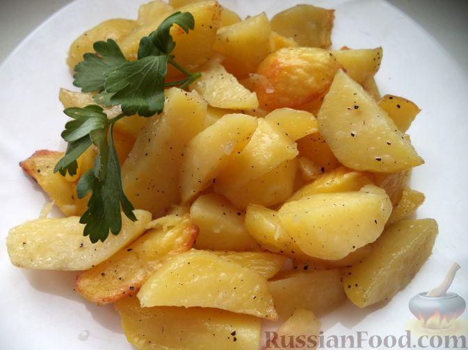 Рецепт Картофель дольками в духовке