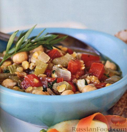 Рецепт Овощное рагу с чечевицей и нутом