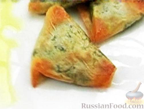 Рецепт Пирожки со шпинатом и козьим сыром