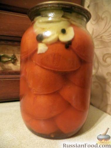 Рецепт Дольки помидоров в желатиновой заливке