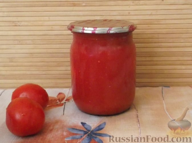 Рецепт Сок из помидоров с мякотью