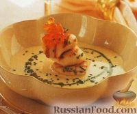Фото к рецепту: Сливочный суп с морскими гребешками