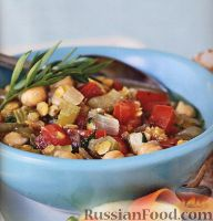 Фото к рецепту: Овощное рагу с чечевицей и нутом