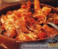 Фото к рецепту: Креветки, запеченные под сырной корочкой
