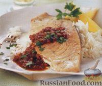 Фото к рецепту: Рыба-меч под соусом барбекю